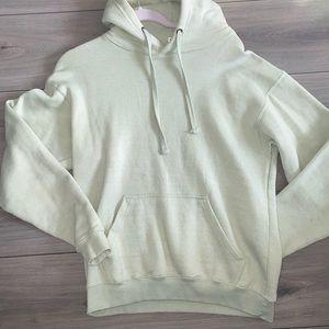 sage green hoodie